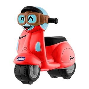 Chicco - Mini moto Vespa Turbo Touch, con carga por retroceso, color rojo