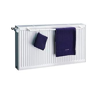 XIMAX – Toallero para radiador compacto, longitud: 540, 740, 940 mm, color blanco o cromado