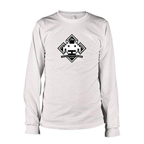TEXLAB - Retro Squad - Herren Langarm T-Shirt, Größe XXL, weiß