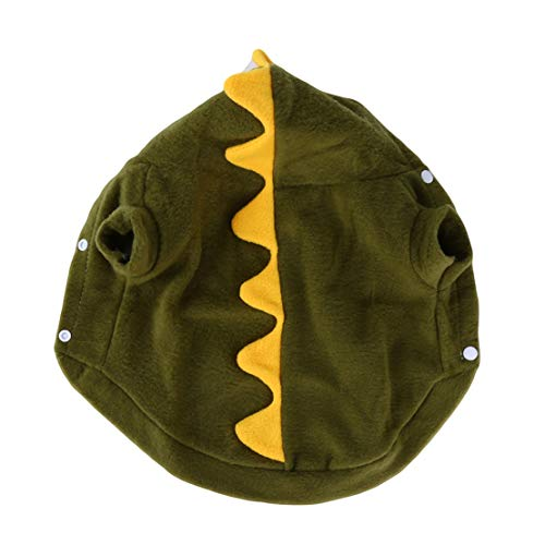 Lustige Kostüm Weiche Fleece Hundekleidung Schöne Dinosaurier Cosplay Tuch Winter Welpen Warme Hoodies mit Kappen (S) ()