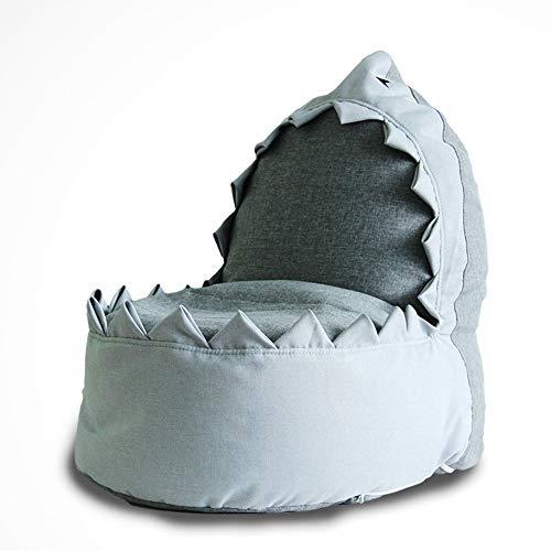 Canapés pour Enfant Paresseux Mignon Petit Sac De Fèves Shark en Tissu Petit Siège pour Animal De Compagnie