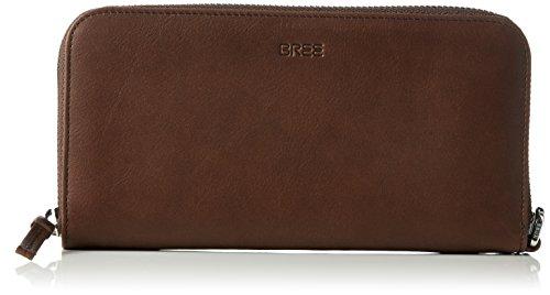 Bree 354129 - Cartera para mujer de Piel Mujer Marrón Marrón (Cacao) talla única Bree