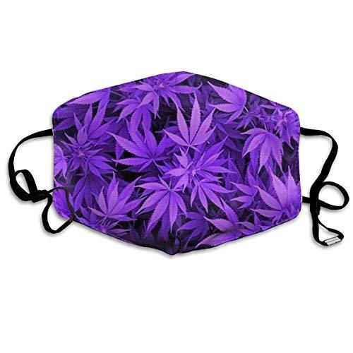 asken, Marijuana Weed Leaf Face Masks Breathable Dust Filter Masks Mouth Cover Masks with Elastic Ear Loop ()