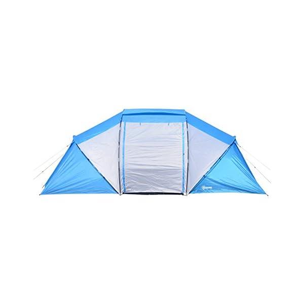 Outsunny Tenda da Campeggio per 6 Persone 460*230*195cm˙