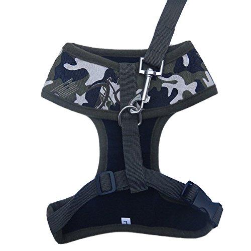 Kostüme Tick (Brust-Gurt Heimtierbedarf Hunde mit Schlepp Seil Verschleiß Canvas Weste ausgestattet ,Camouflage Farbe)