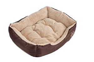 Dog bed tan/brown faux fur S Easipet Branded