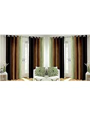 Home FURNISHINGS Faux Silk Curtains of Long Crush 4 Piece