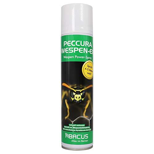 ABACUS PECCURA WESPEN-EX 400 ml Wespenspray (3505) - Pyrethrum-Spray Insektizid Wespenabwehr Wespenbekämpfungsmittel Wespenmittel Ungezieferspray Wespenschutz Wespengift Wespenfalle Wespenbekämpfung (B Sie Abacus)