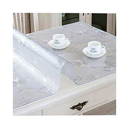 North cool PVC Transparent Weichglas Countertop Tischdecke Couchtisch Matte Kristallplatte Weichgummi Blatt Wasserdicht Einweg Tisch Kunststoffmatte (Color : Frosted, Size : 70 * 210cm) -
