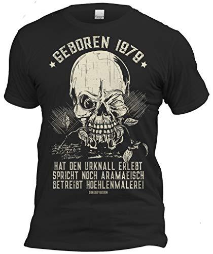 Fun T-Shirt zum 40. Geburtstag Geboren 1979 Lustiges Geschenk für Männer Geburtstagsgeschenk 40 Jahre Farbe: schwarz