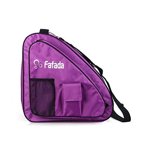 Fafada Skatertasche Inliner Tasche Schlittschuhtasche Skate Bag Wasserabweisend Tasche für Skate Schlittschuh Rollschuhe bis zu 38 Gr. Lila