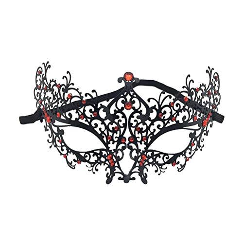 Zhhyltt Elegante Party Augenmaske - Filigrane Metall Rhinestone Venezianische Maske Maskerade Party Ball Mardi Gras Halloween Packung mit 2