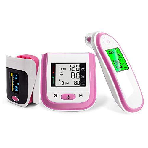 Maple Leaf Fingeroximeter Und Handgelenk-Blutdruckmessgerät Zur Überwachung Der Sauerstoffsättigung Über Nacht Bei Kindern Zur Messung Von Körpertemperatur Und Blutdruck (3 STÜCKE),Pink