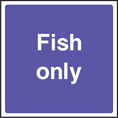 Lebensmittelverarbeitung Sicherheit Aufkleber Fisch nur