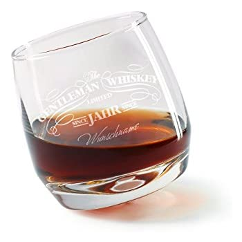 Amazon.de: Privatglas Rocking Whisky Glas - Gentleman Whiskey - mit ...