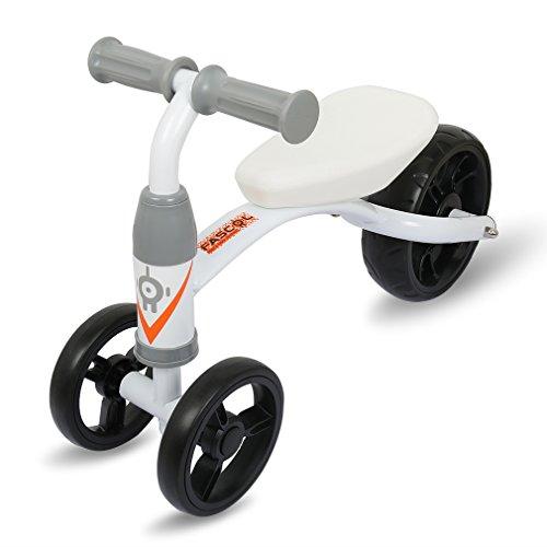 Fascol Draisienne Enfant Vélo de Marche en Acier Dur Sans Pedale Bicycle de Balance, Blanc