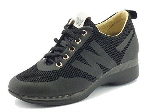 MELLUSO Sneakers per Donna in Tessuto Tecnico Nero Nero