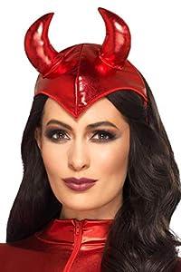Smiffys 49104 Fever Devil - Diadema para mujer, talla única, color rojo
