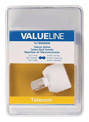 Valueline VLTB90995W teléfono divisor - Splitter de teléfono