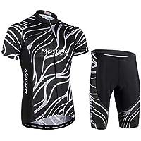 jersey Trajes De Ciclismo para Hombres Transpirable Ciclismo De Secado Rápido Manga Corta + Pantalones Cortos para Deportes Al Aire Libre Ciclismo Ciclismo Ropa De Bicicleta XXXL
