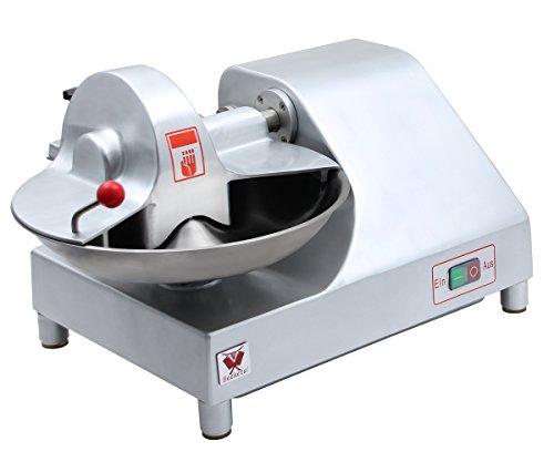 Beeketal 'BFK9' Profi Fleischkutter Tischkutter mit ca. 6,4 L Volumen für 2,5 kg fertiges Brät, Spezialklingen aus gehärtetem Edelstahl, 400 W Motor für 1460 U/min (20 U/min Schüssel)