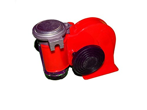 Autozot SUPER LOUD Nautilus Snail Shape Compact Twin Air Horn Universal for Cars, Trucks, Boats, ATVS, Motorcycles and Scooters