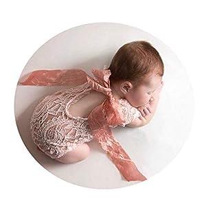 NO BRAND Disfraz de Accesorios de fotografía para recién na Baby Costume Prop Newborn Photo Props Manta Swaddle Lace Wrap for Baby Boy Girls Photography Shoot Cómodo (Color : Gray, Size : S) 16