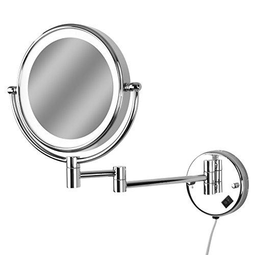 Casa, Arredamento E Bricolage Specchio Per Trucco Da Bagno Specchietto Ingranditore Portatile Colore Panna