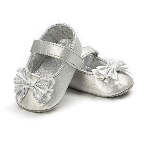 YpingLonk ❣ Schmetterlings Prinzessin beschuht Babyschuhe Babyschuhe Taufe Kleinkind rutschfeste Kleid Schuhe mit Bowknot Spitze Floral -