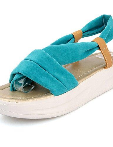 LFNLYX Scarpe Donna-Sandali-Formale / Casual-Plateau / Comoda-Plateau-Finta pelle-Nero / Blu / Giallo / Rosso Blue