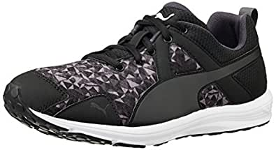 Puma Women's Evader XT Graphic Wn s Black and Periscope Mesh Running Shoes - 4 UK/India (37 EU)