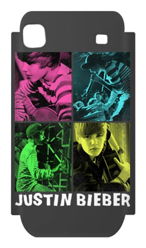 Zing Revolution MusicSkins Schutzfolie, ms-jb40275, Justin Bieber-4square, Samsung Galaxy S 4G (sgh-t959V), Haut