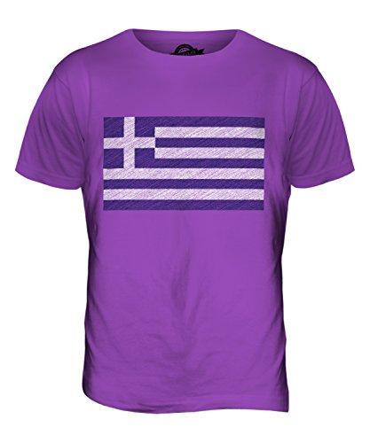 CandyMix Griechenland Kritzelte Flagge Herren T Shirt Violett