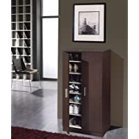 Mueble armario zapatero economico con 7 estantes color café