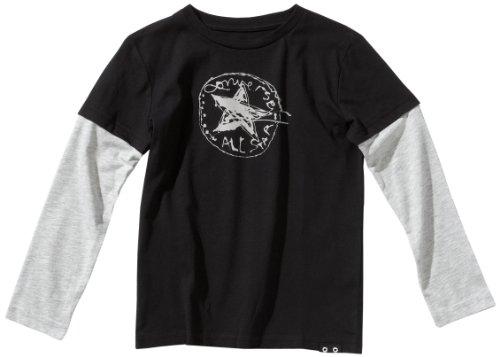 Converse Jungen T-Shirt Scribbled CT Patch Longsleeve, Black, 176, 32403-30