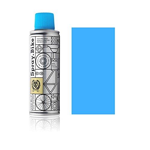 SPRAY.BIKE Fahrrad Lackspray - für detailreiche Arbeiten wie Linien, Schablonen oder Kleine Bereiche - Pocket SOLID Kollektion in der praktischen 200ml Dose (Neon Blau)
