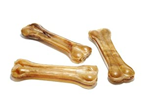 PJ Pet Poducts Rawhide Pressed Bones 11 cm (Pack of 10X3)