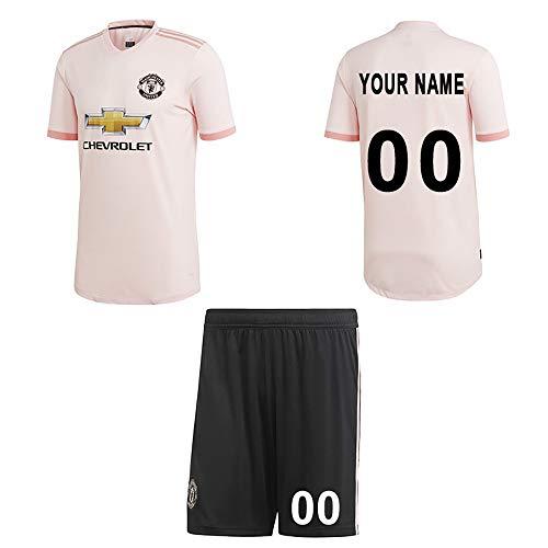 WFhome Personalisierte MUFC Auswärts Fußball Shirt Benutzerdefinierte Fußball Trikots mit Team Name Spieler Namen und Zahlen