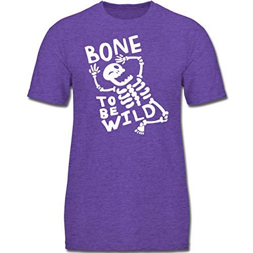 Anlässe Kinder - Bone to me Wild Halloween Kostüm - 164 (14-15 Jahre) - Lila Meliert - F130K - Jungen Kinder T-Shirt