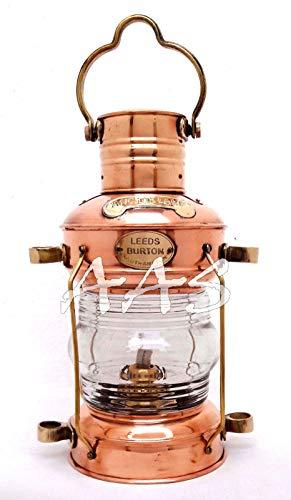 Shiv (TM Shakti Unternehmen Nautisches Messing & Kupfer poliert Anker Laterne Hängelampe Home Dekorative Antik Stil Schiff Lampe
