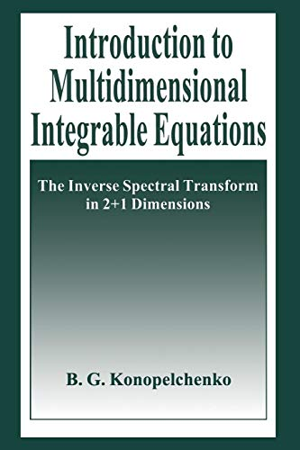 2 Plenum (Introduction to Multidimensional Integrable Equations: The Inverse Spectral Transform in 2+1 Dimensions (Plenum Monographs in Nonlinear Physics))