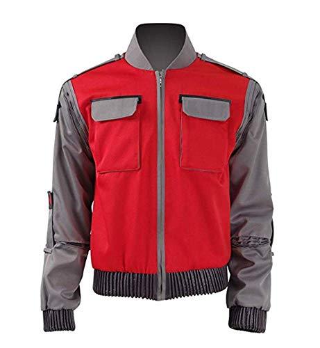 Amerikanische Sciencefiction-Film Marty McFly Jr Herren Jacke Kostüme (3XL, Stil 1) ()