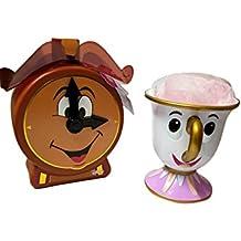 Disney La Bella y la bestia Chip de taza y Vale la Pena–Juego de baño body puff engranajes