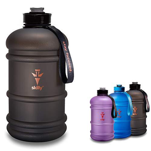 skilly YPO Bottle Sport Trinkflasche | XXL 2.2l Water Bottle | Fitnessflasche BPA frei | Gym Water JUG | Geruchsfreie Wasserflasche -