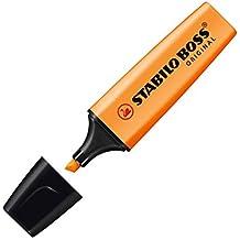 STABILO BOSS Original - Marcador fluorescente - Caja con 10 marcadores - Color naranja