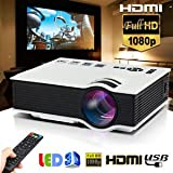 SLB Works Brand New 5000lumens LED Projector Multimedia Home Cinema Theater 1080P HD HDMI USB Video