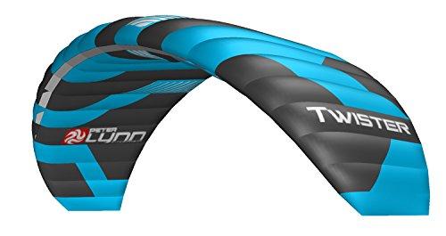Lenkmatte Lenkdrachen Peter Lynn Twister 5.5 (R2F) mit Handles und Safety Leash 4-Line Powerkite Stranddrachen für Kitebuggy und ATB Board