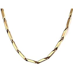 Nakabh Stainless Steel High Quality Chain for Men and Boys (Gold)