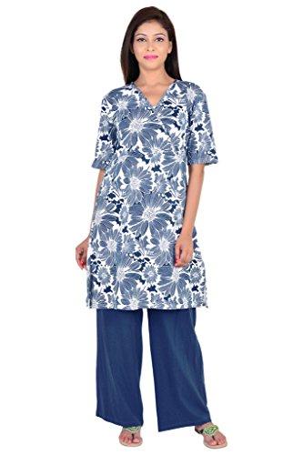 9teenAGAIN printed front operlap Nursing Night Suit _2MN16-0747-NS1-P