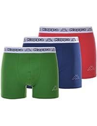 KAPPA Herren Boxershorts Trunks Pants 3er Pack Größe: M, grün-blau-rot
